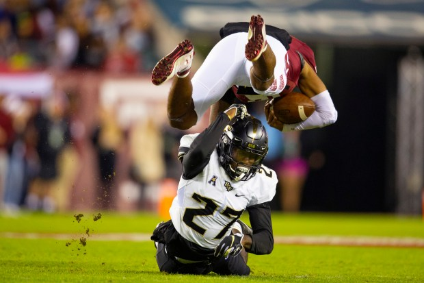Richie Grant #27 of the UCF ...