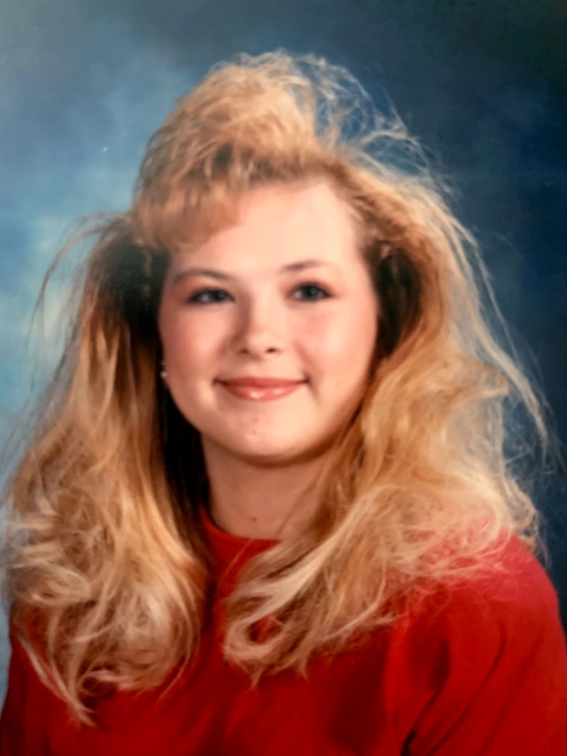 Amy Carlson is pictured at 16 ...