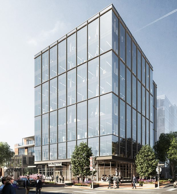 A rendering of 200 Clayton, an ...