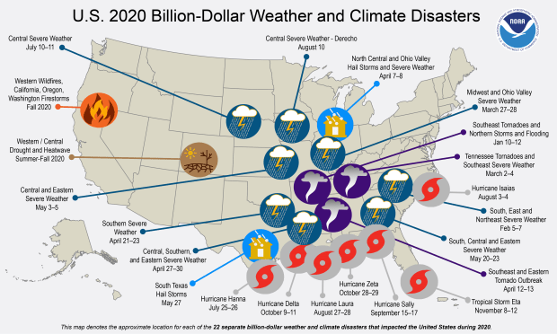 2020 billion dollar disaster map - Why are Colorado's summers getting hotter? It's climate change