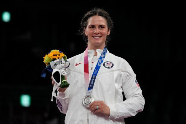 Silver medalist, United States Adeline Maria ...