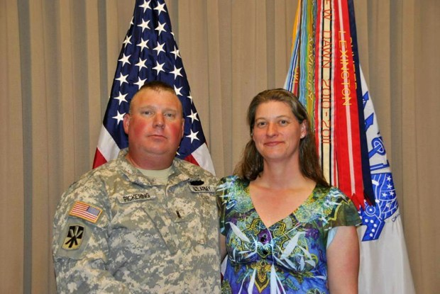 Kendall Pickering, left, and his wife ...
