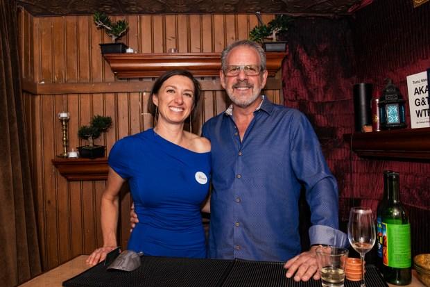 Jimmy's business partners Jessica Lischka, left, ...