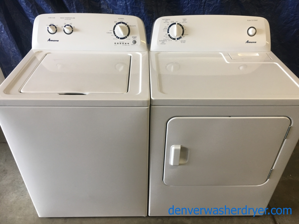 hight resolution of amana maytag top load washer electric dryer set 1 year warranty
