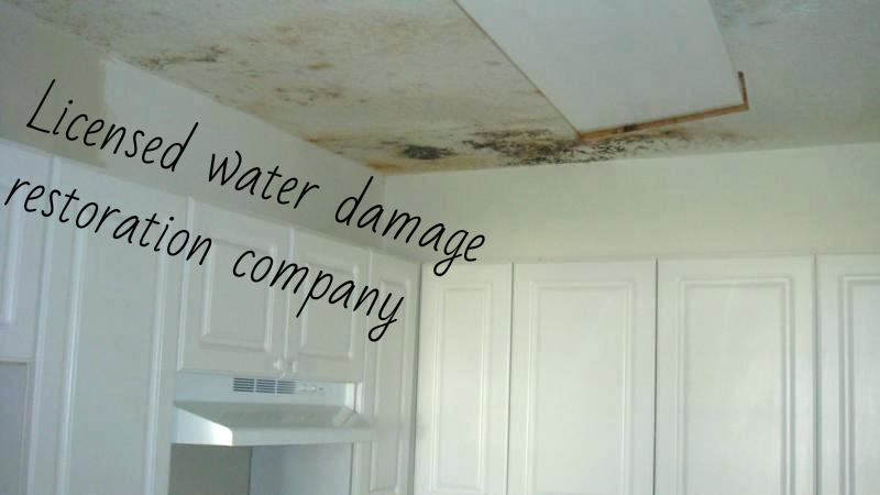 Licensed water damage restoration company