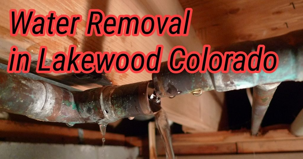 Water Removal in Lakewood Colorado