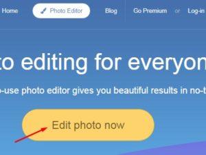 klik edit photo now untuk proses pengeditan foto