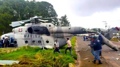 Photo of Cae un helicóptero de la Marina en Hidalgo