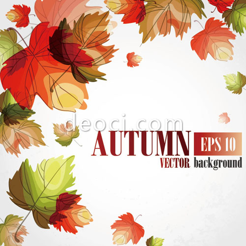 Golden Autumn Leaves Vector Background Material EPS Files