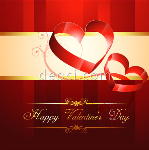 Gorgeous Valentine Cards Email Cover Background Design