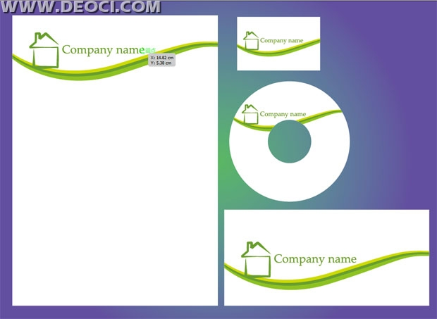 Vector Vi Business Cards Letterheads Envelopes Cd Cover Design