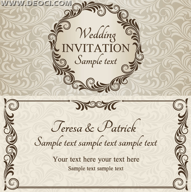 Wedding Invitation Design Template Eps Downlo Deoci Templates
