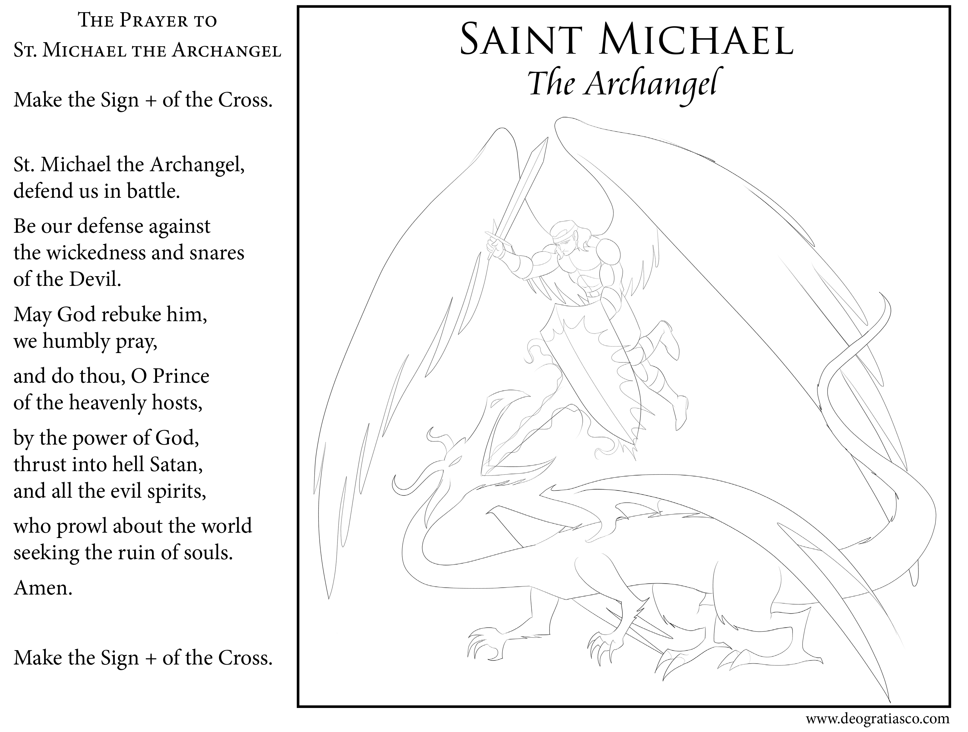 30 St Michael The Archangel Coloring Pages