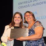 Deputada estadual Mirela Macedo (PSD) recebe titulo de Cidadã laurofreitense