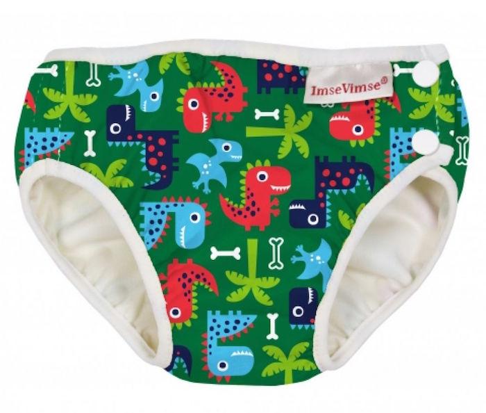Imse Vimse Zwemluier Wasbaar Groene Dionauriers XL 11-14kg
