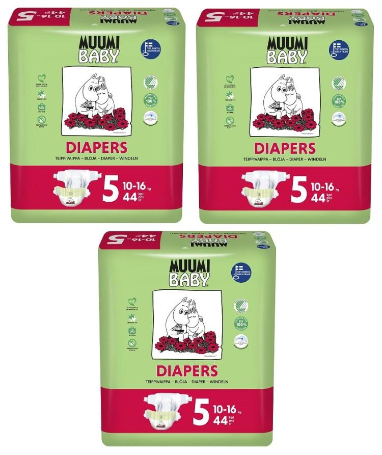 Muumi Baby Ecologische Luiers 5 Maxi Plus Voordeelverpakking