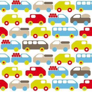 Voertuigen behang auto bus vrachtwagen wit  De Oude