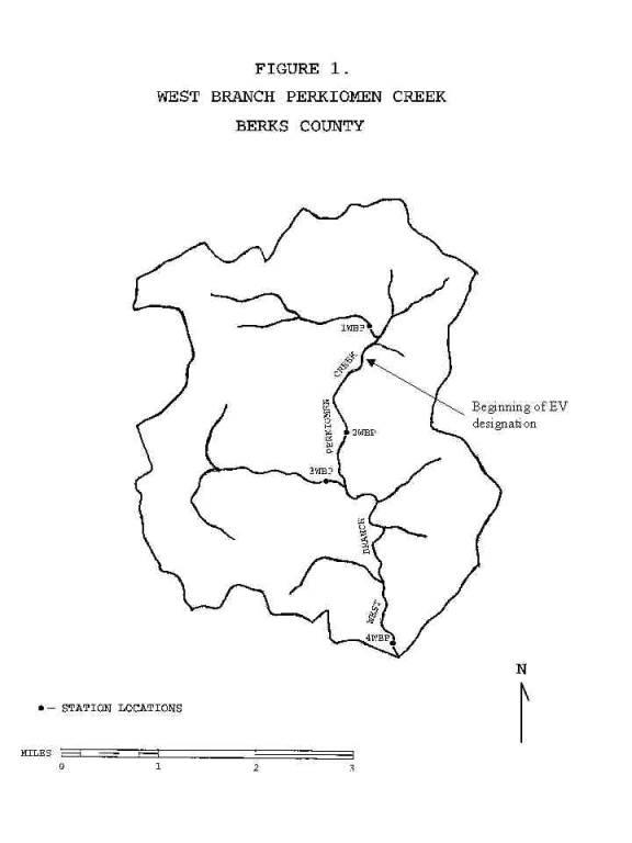 WEST BRANCH PERKIOMEN CREEK Report Station Locations