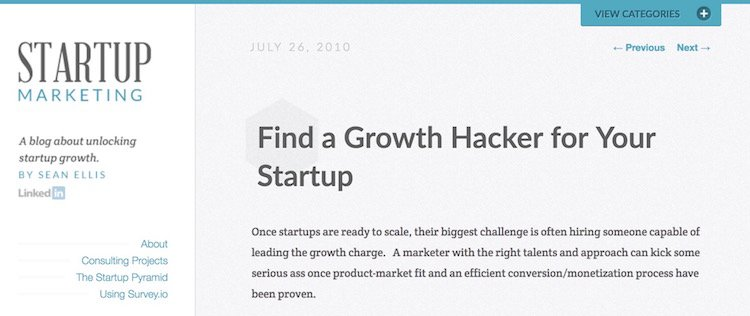 growth hacking Sean Ellis