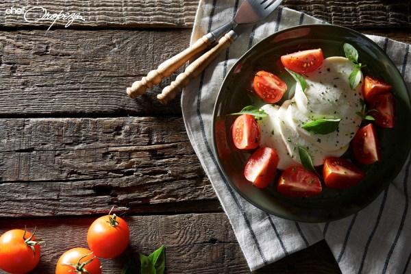 Receta: Ensalada caprese con tomates mixtos