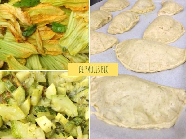 calzoni vegani integrali ripieni di verdure biologiche di stagione