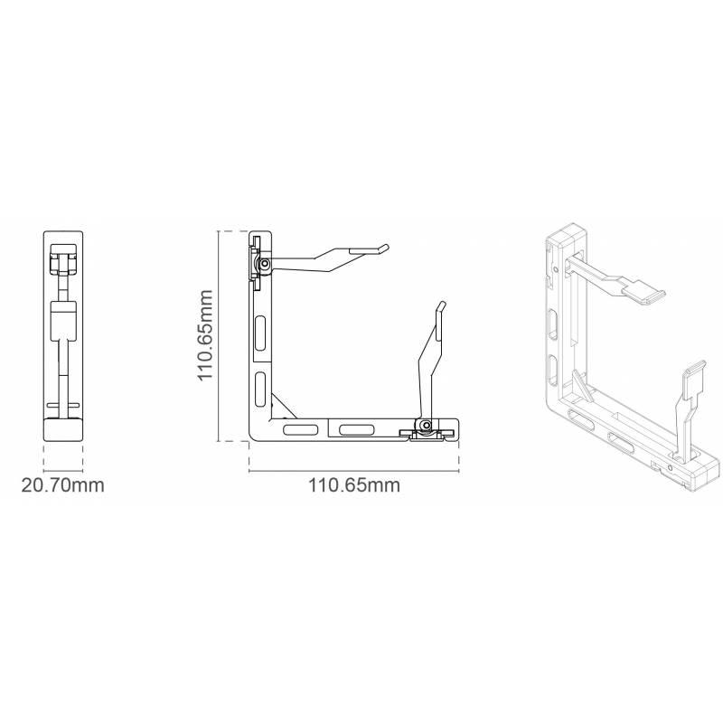 Esquinero para Fast Texfix con sistema de montaje sin