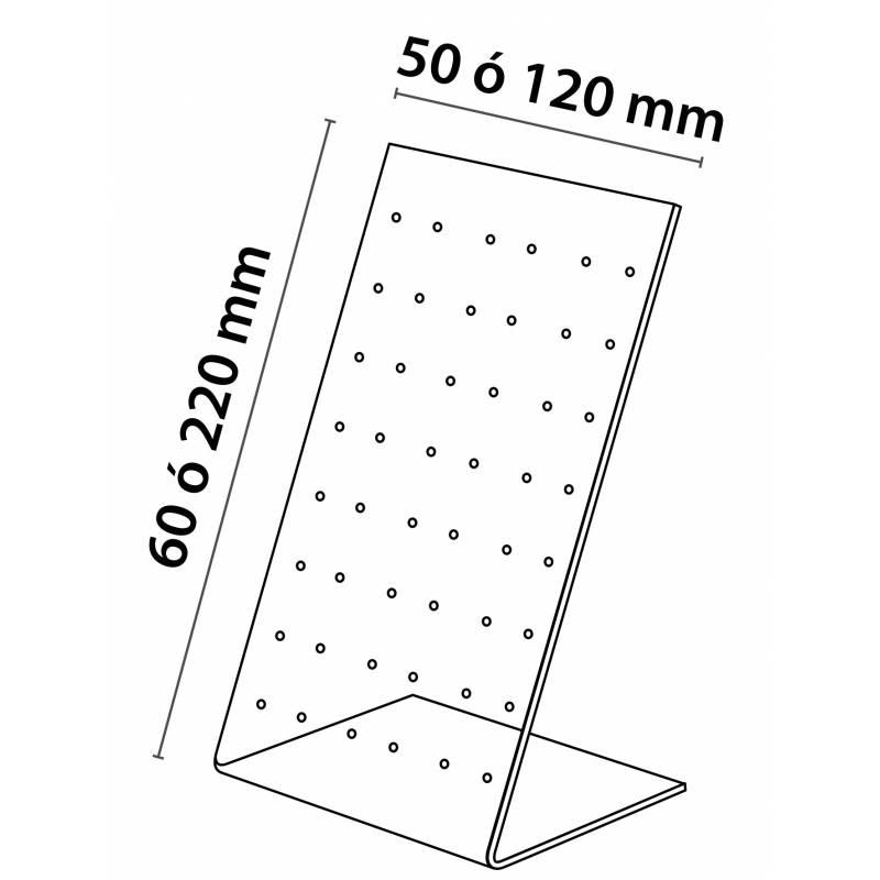 Expositor para pendientes en acrílico