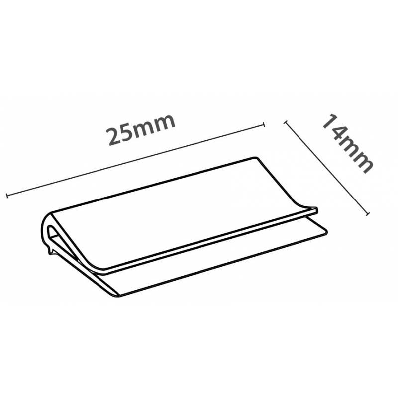 Pieza de plástico transparente para fijar carteles en la