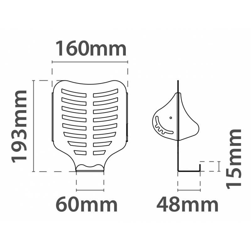 Portafolletos para fijar al lateral de los perfiles texfix