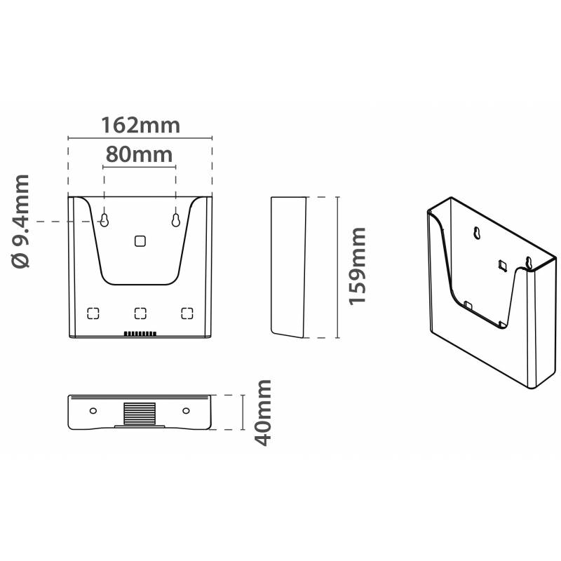 Portafolletos de sobremesa para folletos tamaño DIN A5.