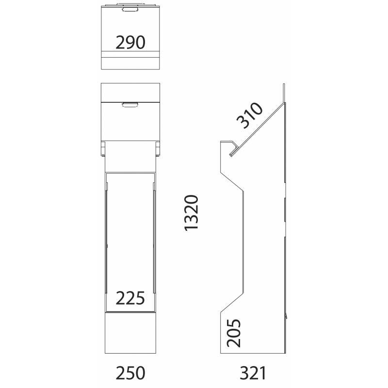 Portafolletos de cartón con soporte superior de 290x310 mm