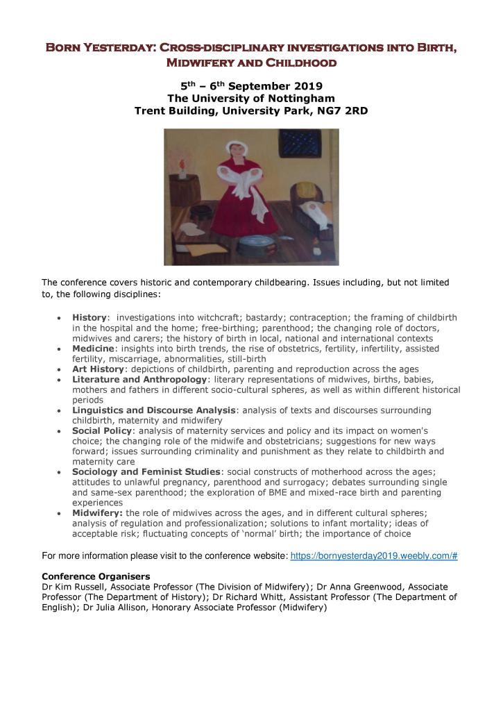 Born Yesterday conference, Nottingham, September 5th-6th