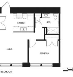 riverside apartments one bedroom unit [ 1200 x 927 Pixel ]