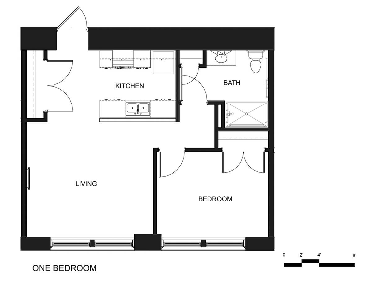 hight resolution of riverside apartments one bedroom unit