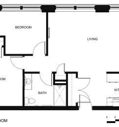 riverside apartments two bedroom unit [ 1500 x 1061 Pixel ]