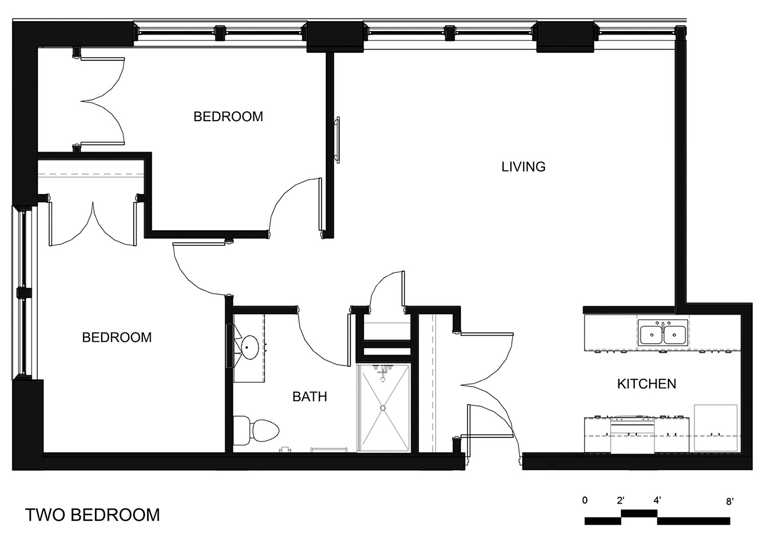 hight resolution of riverside apartments two bedroom unit
