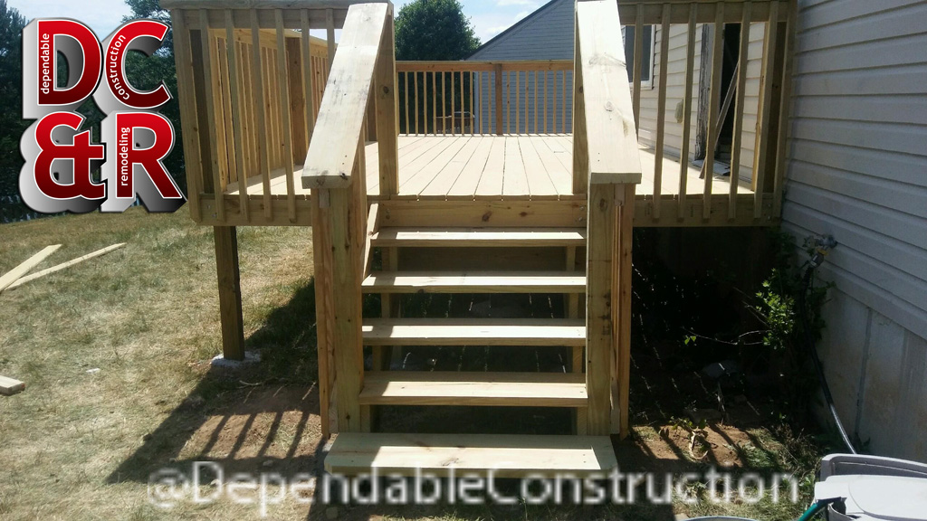 Right side view of Fairborn Deck
