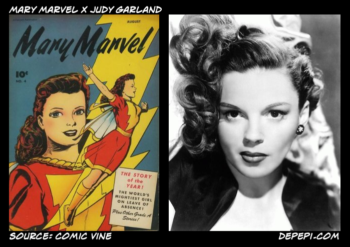 depepi.com, depepi, subconscious culture, pop culture, anthropology, women, comics, mary marvel, judy garland, superhero partners