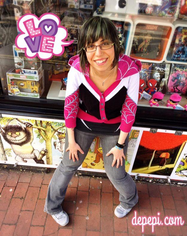 spider gwen, marvel, comics, superhero, superhero fashion, geek, geek fashion, geek anthropology, depepi, depepi.com
