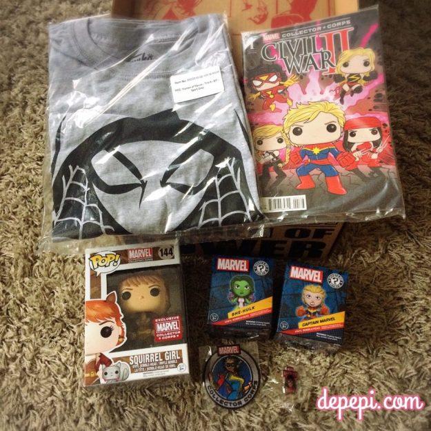 marvel, marvel comics, marvel collector corps, women of power, spider-gwen, she hulk, captain marvel, squirrel girl, spider woman,  ms. marvel, depepi, depepi.com