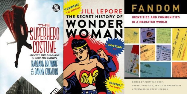 books on comics and fandom, comics, wonder woman, the secret history of wonder woman, the superhero costume, fandom, depepi, depepi.com