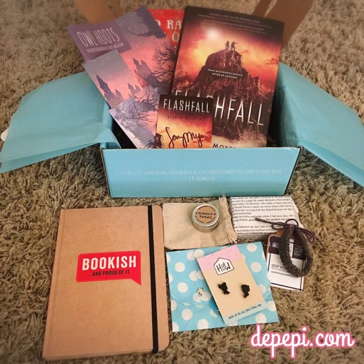 nerdy, nerdy bookworm box, unboxing, books, depepi, depepi.com