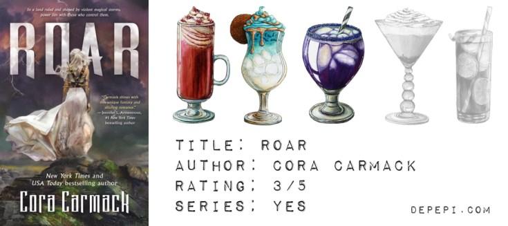 roar, cora carmack, roar cora carmack, reviews, bookish, depepi, depepi.com, fantasy, ya