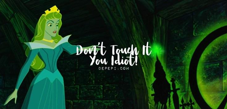 disney, aurora, don't touch it you idiot, tropes, depepi, depepi.com