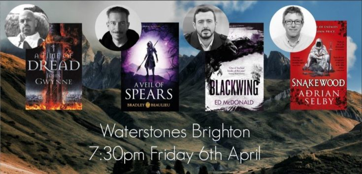 waterstones, waterstones brighton, brighton and hove, blackwing ed mcdonald, blackwing, fantasy worlds, amreadingfantasy, bookish events, depepi, depepi.com
