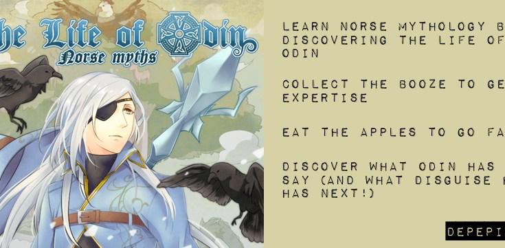 the life of odin, norse myths, norse mythology, odin, thor, loki, iphone, ipad, app, depepi, depepi.com
