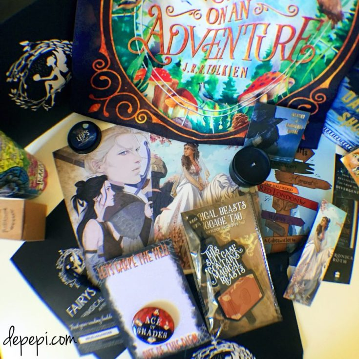fairyloot, fairyloot april 2018, fairyloot january, whimsical journeys, depepi, depepi.com, bookish, review, unboxing