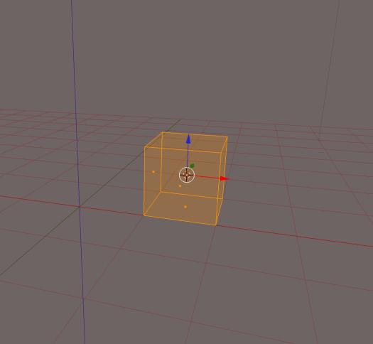 Cube as seen in Blender