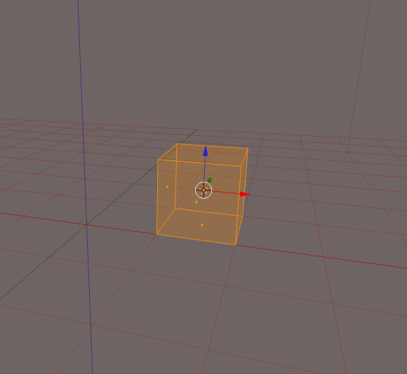 Cube as seen in Blender