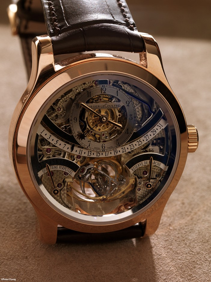 The JLC Gyrotourbillon 1, in pink gold.
